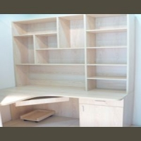 成都志宏家邦露水河实木颗粒板整体书柜/书架/电脑桌