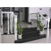 大理石楼梯  纯白楼梯护栏 ;美观大方