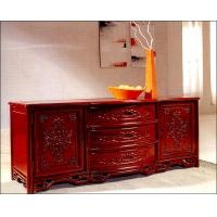 大连宏大家具-鸿发红木家具-明式地柜(雕刻)