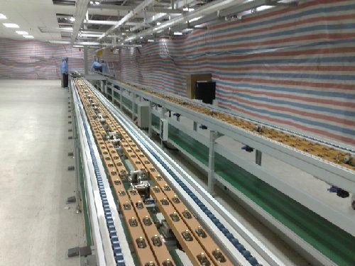 液晶电视流水线 电动车生产线 抽油烟机流水线高清图片