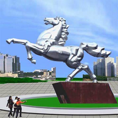 动物不锈钢雕塑 - 动物不锈钢雕塑