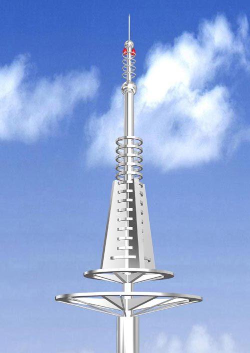 避雷装饰塔 - 校园不锈钢雕塑