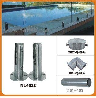 不锈钢泳池玻璃夹