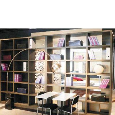 好莱客衣柜-整体书柜-特色书柜