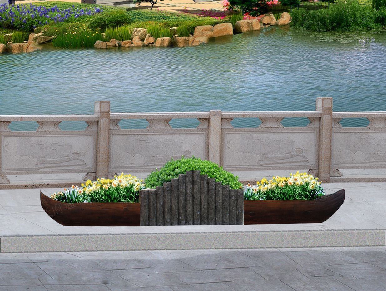 垃圾桶,生态隔离带;仿木用途广泛