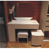 卧室梳妆台定做 欧式梳妆台 实木梳妆台 妆台柜 床头柜定制加