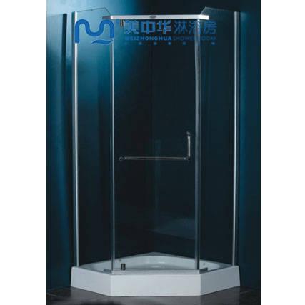 钻石型平开门淋浴房 高清图片