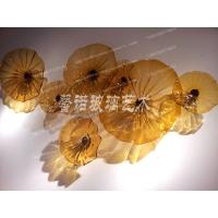 琉璃荷叶墙饰   琉璃荷叶吊顶  琉璃荷叶吊灯 琉璃花装饰