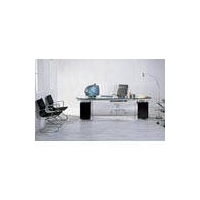 龙成现代办公家具玻璃班台3
