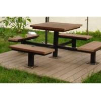 塑木户外桌椅|陕西西安宏艺达塑木园林景观