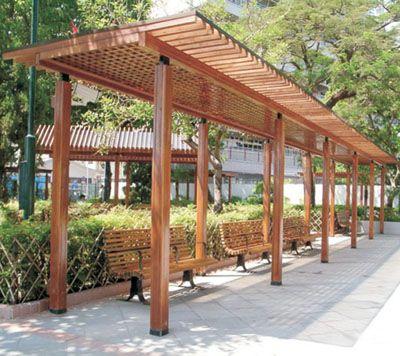塑木廊架花架|陕西西安宏艺达塑木园林景观