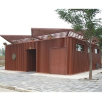 塑木空调架和墙板|陕西西安宏艺达塑木园林景观